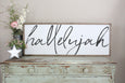 hallelujah farmhouse style framed sign Crafty Mama Gifts