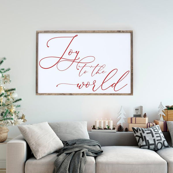 Joy To The World 2'x3' Framed Sign