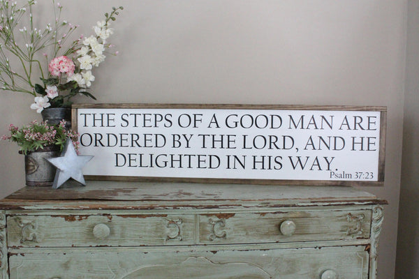 steps of a good man Psalms 37 Crafty Mama Gifts