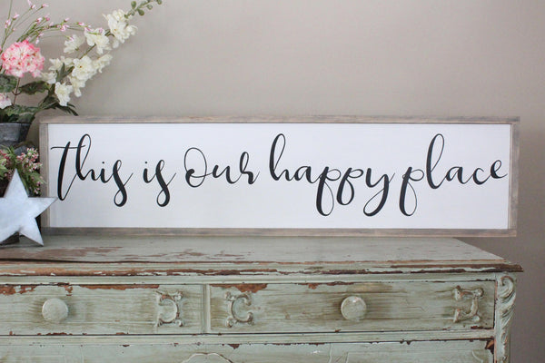 this is our happy place sign Crafty Mama Gifts