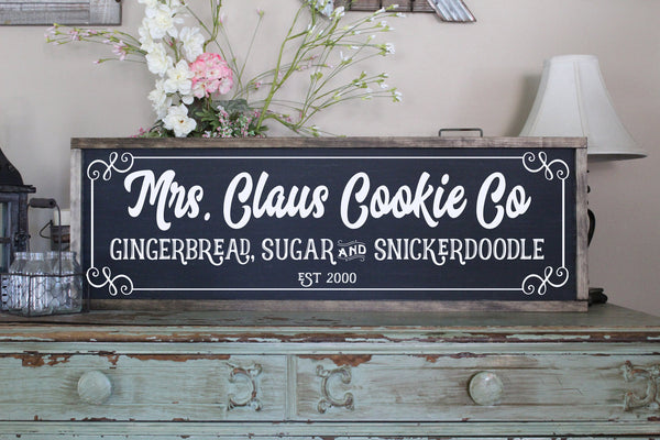 Mrs Claus Cookie Co Personalized Sign Crafty Mama Gifts