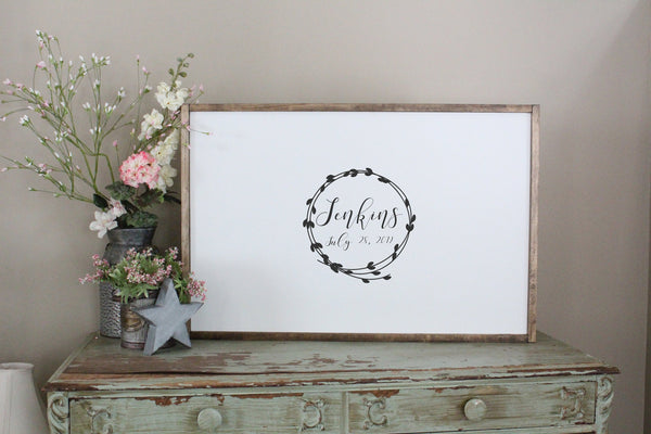 Wedding Wreath Guest Book Sign Crafty Mama Gifts