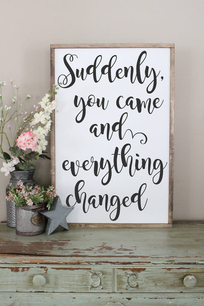 Suddenly You Came And Everything Changed Crafty Mama Gifts