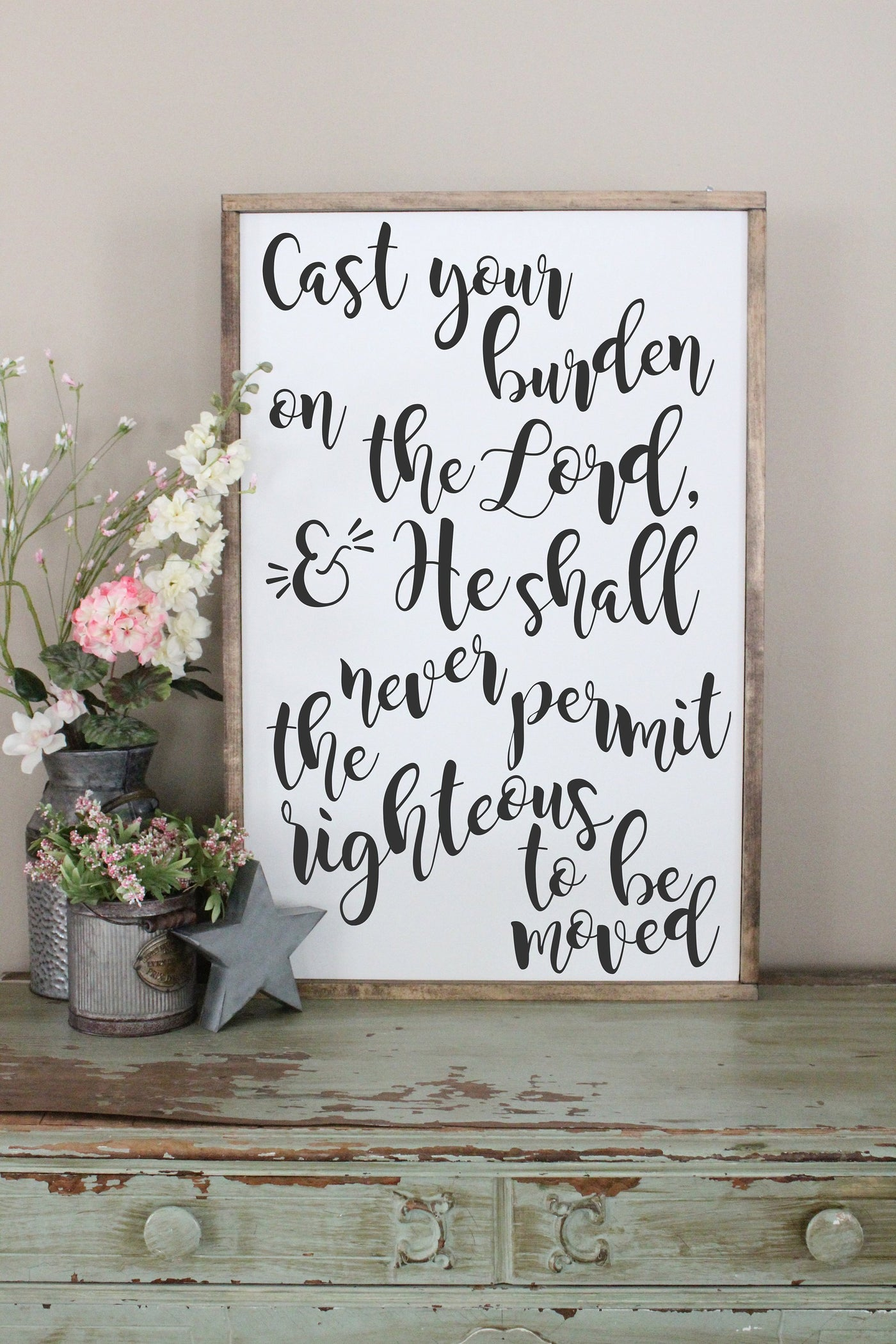Cast Your Burdens On The Lord Crafty Mama Gifts