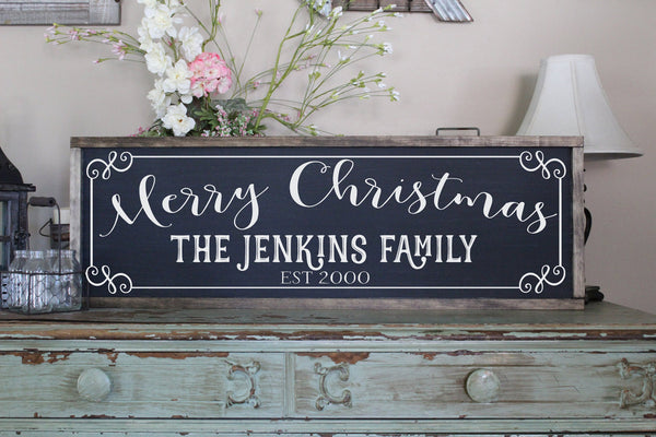 Merry Christmas Personalized Sign Crafty Mama Gifts