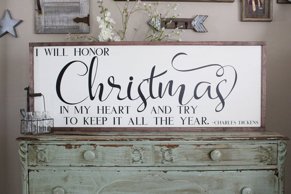 I Will Honor Christmas Charles Dickens Crafty Mama Gifts