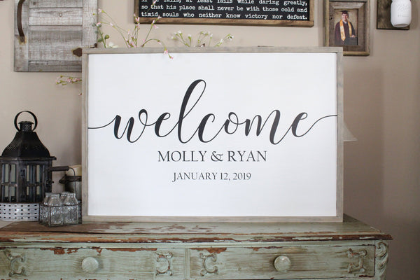 Wedding Welcome Sign Crafty Mama Gifts