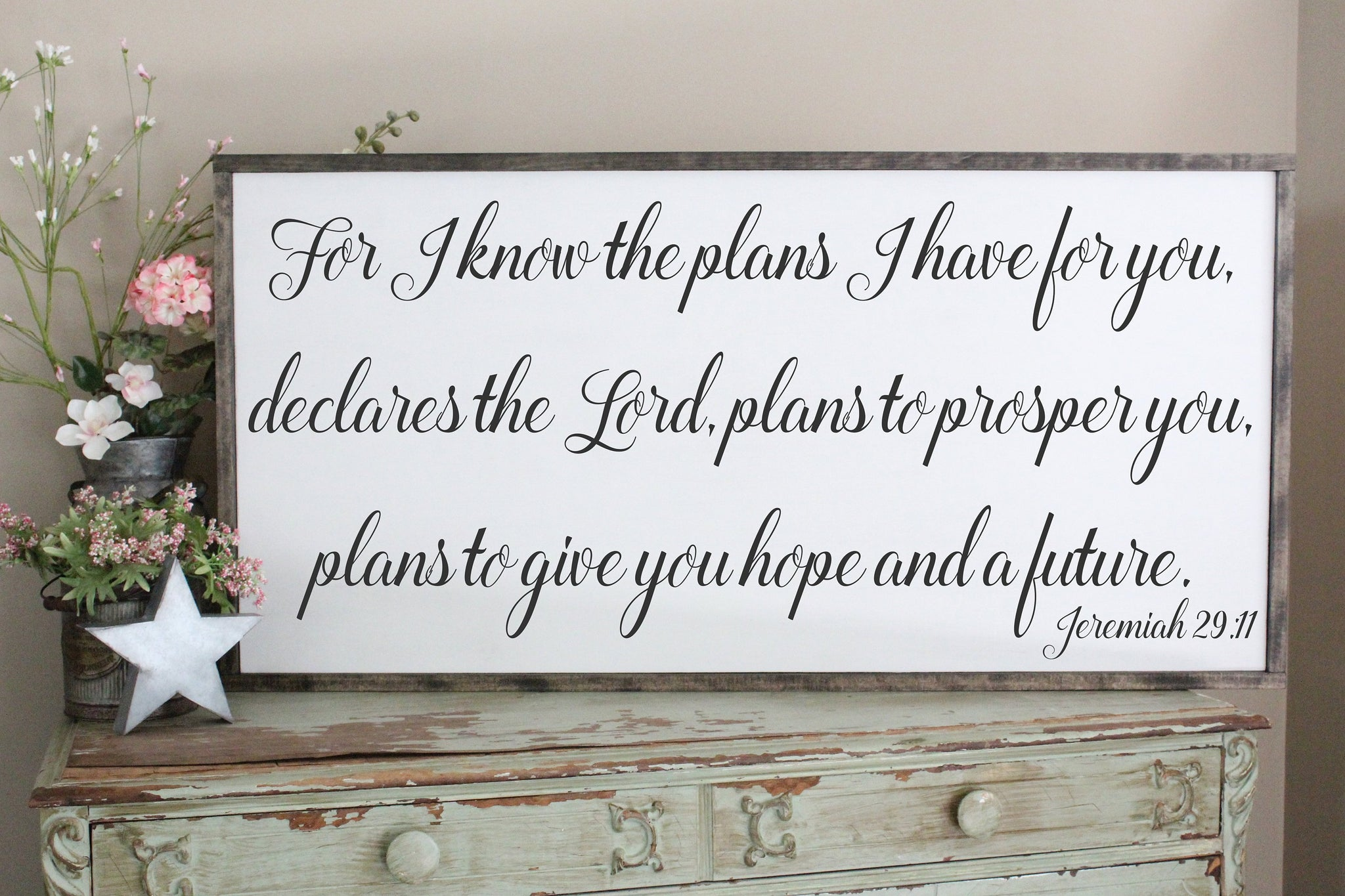 For I Know The Plans I Have For You Jeremiah 29 11 2x4 Framed Sign
