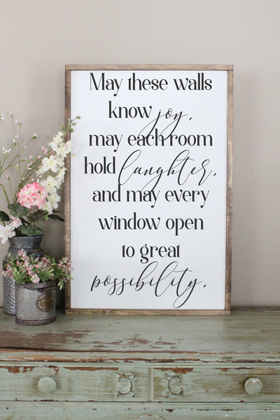 May Our Walls Know Joy Crafty Mama Gifts