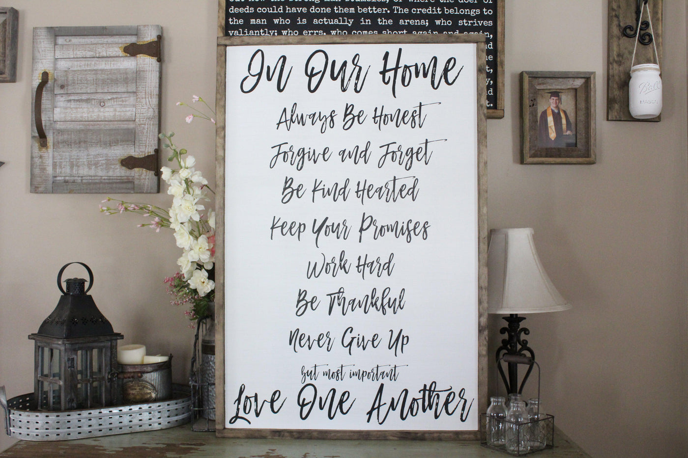 In Our Home Family Rules Sign Crafty Mama Gifts
