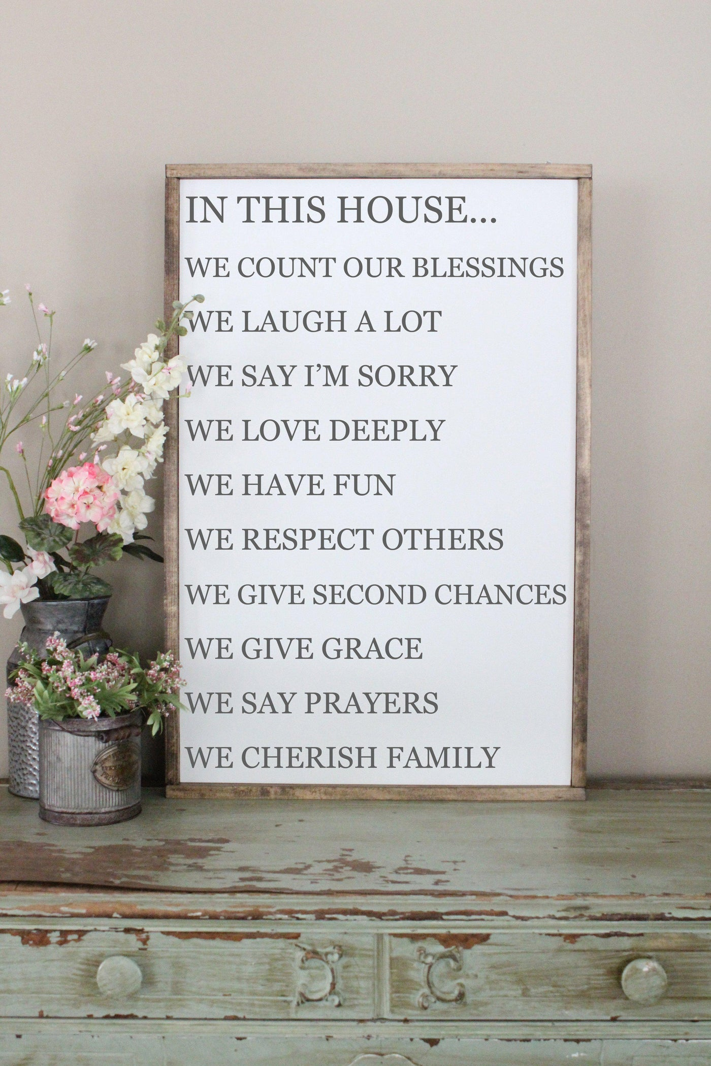 in this house, family rules sign Crafty Mama Gifts