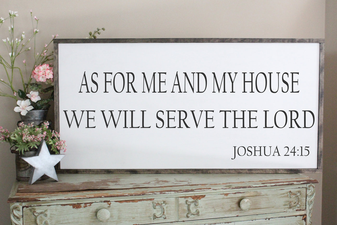 Joshua 24:15 Scripture Sign crafty mama gifts