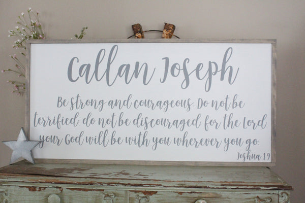 baby name, life verse Crafty Mama Gifts