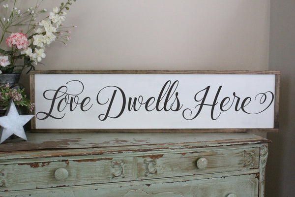 love dwells here sign Crafty Mama Gifts