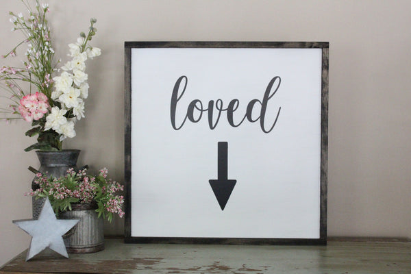 loved arrow nursery sign Crafty Mama Gifts