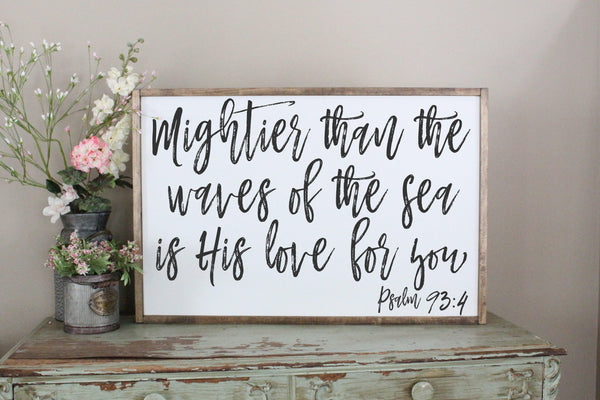 mightier than the waves psalm 93 Crafty Mama Gifts