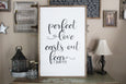 Perfect Love Casts Out Fear 1 John Crafty Mama Gifts