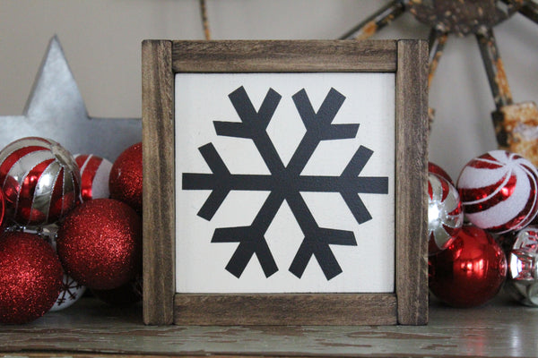 snowflake framed mini sign Crafty Mama Gifts