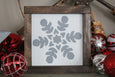 snowflake mini framed sign Crafty Mama Gifts
