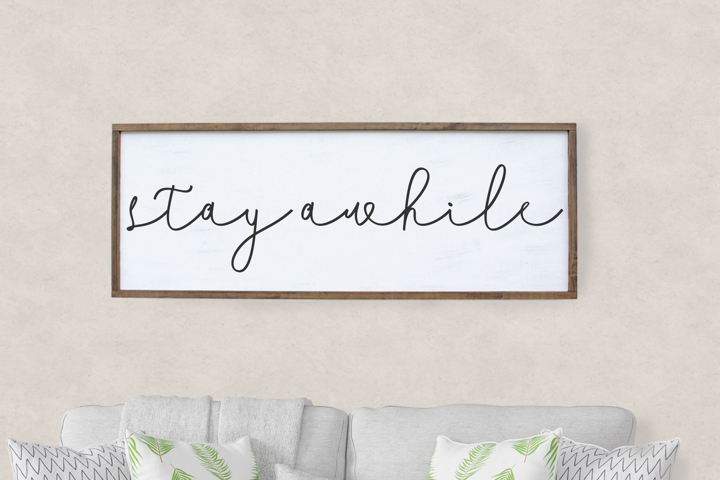 Stay Awhile Framed Sign Crafty Mama Gifts