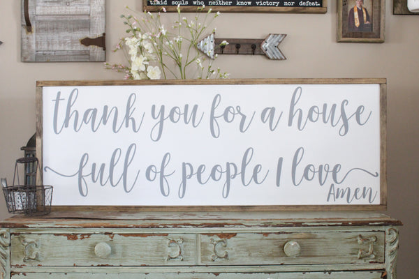 thank you for a house full of people I love Crafty Mama Gifts