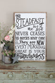 great is your faithfulness sign Lamentations Crafty Mama Gifts