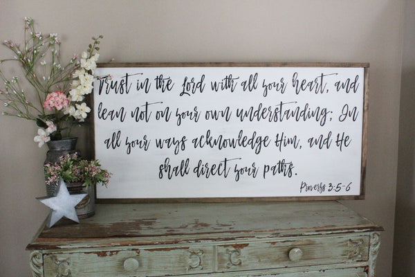 trust in the Lord Proverbs 3 Crafty Mama Gifts