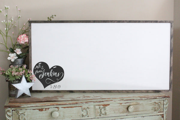 Wedding Heart Guest Book Sign Crafty Mama Gifts