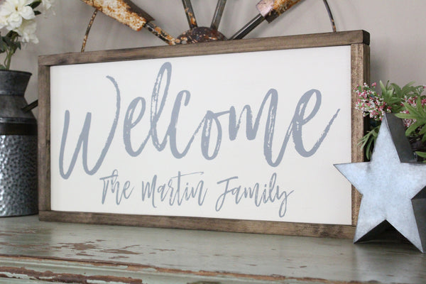 Welcome Family Name Sign Crafty Mama Gifts