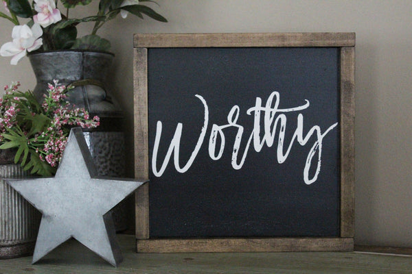worthy words of affirmation Crafty Mama Gifts
