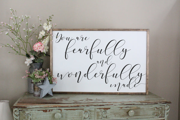 You Are Fearfully And Wonderfully Made Crafty Mama Gifts