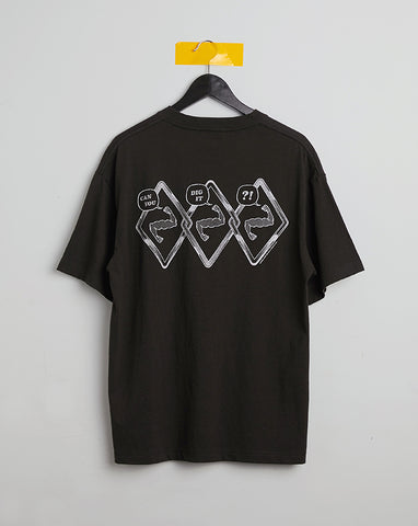 CROSSOVER TEE - WASHED BLACK