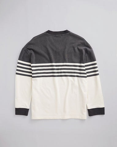 HERITAGE JERSEY - WASHED BLACK & NATURAL