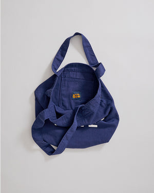 EVERYDAY TOTE - NAVY HERRINGBONE