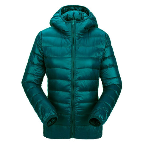 women ultra light down jacket hooded winter duck down jackets