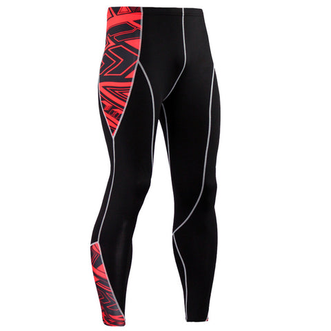 Mens Compression Pants 3D Print Quick Dry Skinny  Leggings Tights Fitness MMA Pants