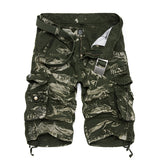 Camouflage Mens Cargo Shorts Loose Work Shorts Man Military Short Pants Plus Size