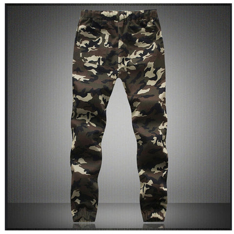 M-5X Mens Jogger Autumn Pencil Harem Pants Men Camouflage Military Pants