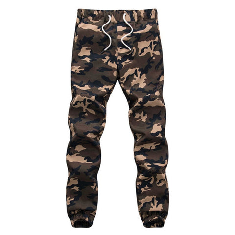 Mens Pencil Harem Camouflage Military Pants Loose Comfortable Cargo Trousers Camo Jogger