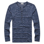 Henley Shirt Long Sleeve Stylish Slim Fit T-shirt