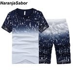 NaranjaSabor Summer New Men's Shorts Casual Suits Sportswear Mens sweatshirt
