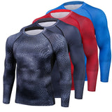 Compression Shirt Thermal Long Sleeve T Shirt Mens Fitness Bodybuilding Skin Tight Quick Dry