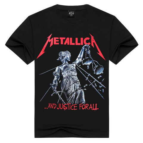 Grade A rock tee shirt men/women t-shirt METALLICA heavy metal music Thrash Metal t shirt short sleeve band t-shirts