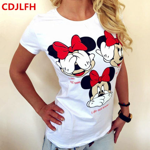 Women Summer T Shirt Short Printed Tops