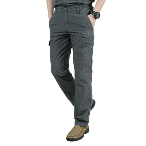 Quick Dry Casual Pants Men Summer Army Military Style Tactical Cargo Pants