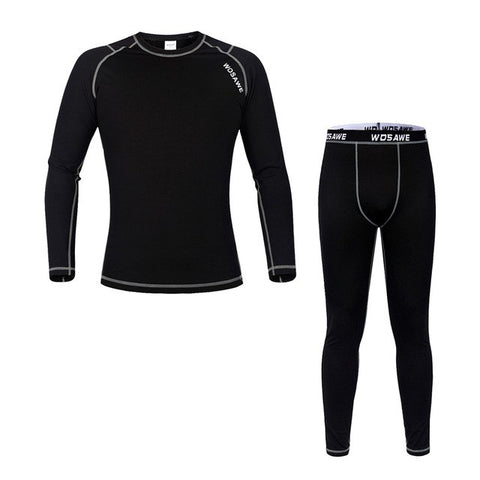 WOSAWE Men Base Layer WinterThermal Fitness Cycling Tight Pants
