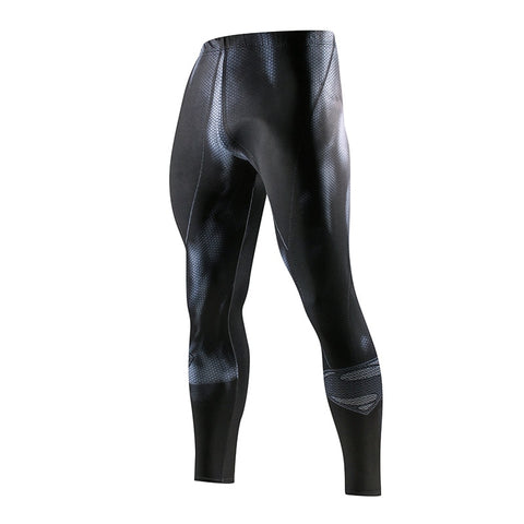 Super hero Running Tights Men Fashion casual Pants Fitness Sport Leggings