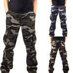 Mens Camouflage Pocket Overalls Casual Pocket Sport Work Casual Trouser Pants