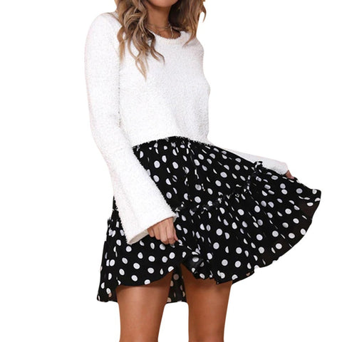 Womens Elastic High Waisted Loose Skirt