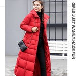 Isiksus Padded Warm Down Jackets Long Quilted Black Hooded Fur Coat Jacket